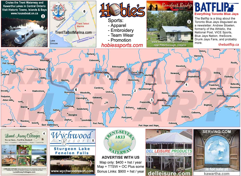 Trent Severn Waterway Map Trent Severn Waterway maps, details, hours, GPS, photos