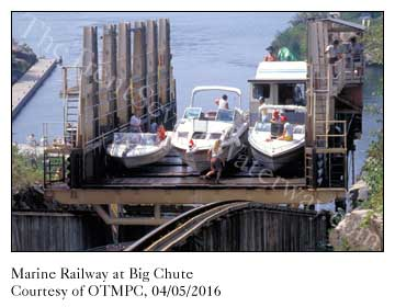 Marine Railway at Big Chute moving boats between Georgian Bay and The Trent-Severn Waterway
